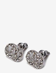 Victoria - stud oorbellen - crystal