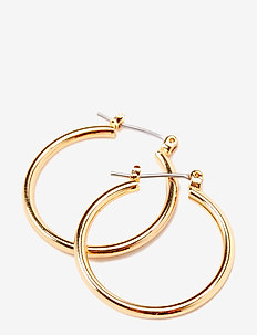 Pilgrim Earrings gold Classic - hoops - gold
