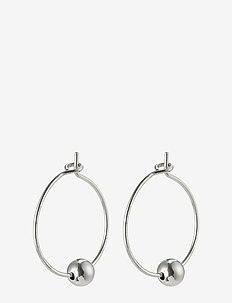Meg - hoops - silver plated