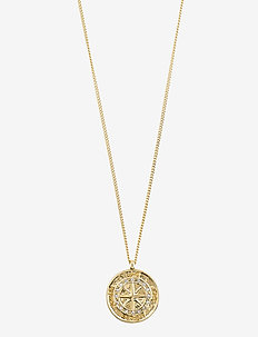 Necklace : Gerda : Gold Plated : Crystal - dainty necklaces - gold plated
