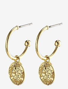 Earrings : Gerda : Gold Plated - pendant earrings - gold plated