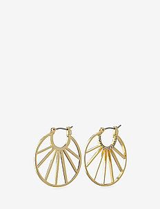 Cassie - hoops - gold plated