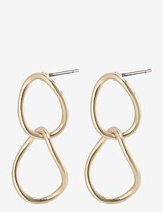 Nika - statement earrings - gold plated
