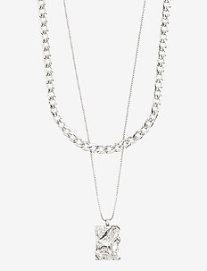 Necklace : Bathilda : Silver Plated - statement necklaces - silver plated