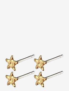 Earrings : Regina : Gold Plated - pendant earrings - gold plated
