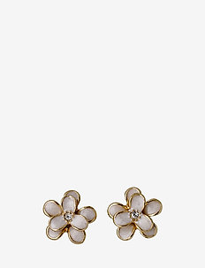 Earrings - GOLD/WHITE