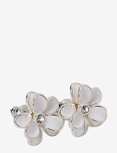 Earrings - studs - white