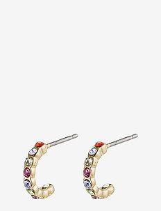 Brigitte - stud earrings - gold plated