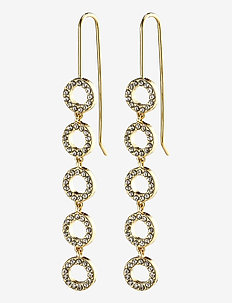 Earrings : Tessa : Gold Plated : Crystal - statement earrings - gold plated