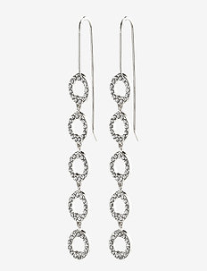 Earrings : Tessa : Silver Plated : Crystal - statement earrings - silver plated