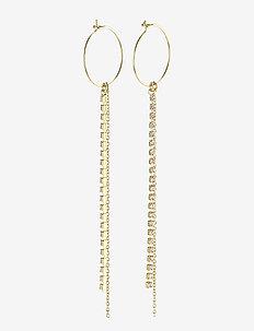 Earrings : Kiara : Gold Plated : Crystal - pendants - gold plated