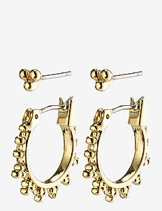 Earrings : Kate : Gold Plated - hoops - gold plated