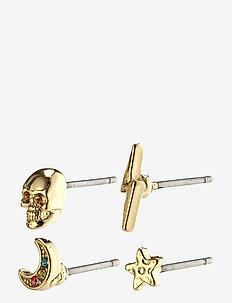 Earrings : Perla : Gold Plated : Multi - stud earrings - gold plated