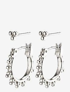 Earrings : Kate : Silver Plated - hoops - silver plated