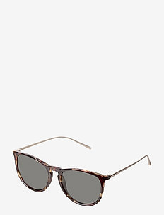 Vanille - round frame - brown