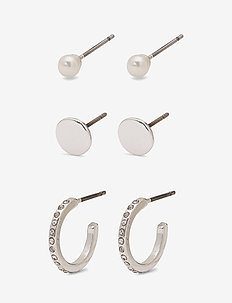 Earring set - SILVER PLATED