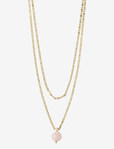 Necklace : Online Exclusive Haven : Gold Plated : Rose - dainty necklaces - gold plated