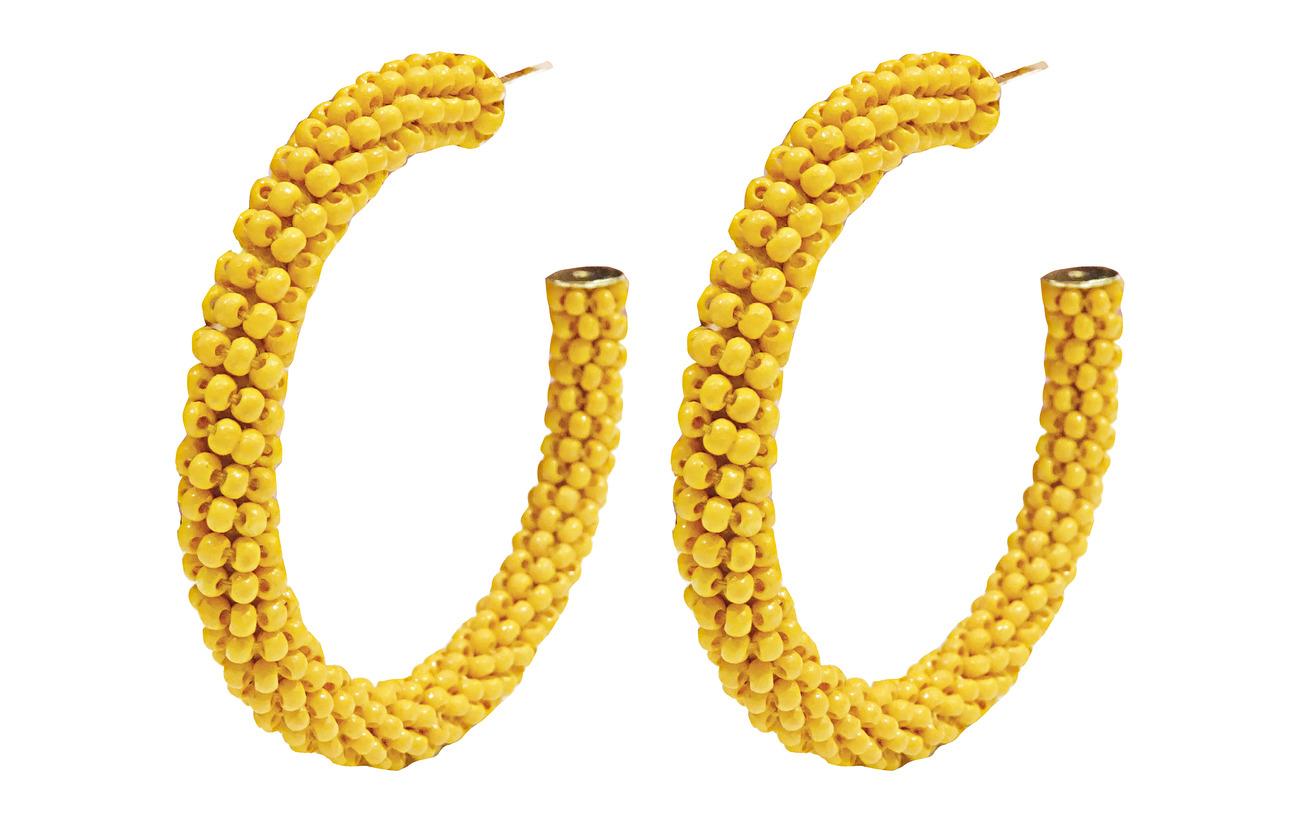 PIPOL'S BAZAAR Dany Beaded PIPOL Hoop Yellow - YELLOW