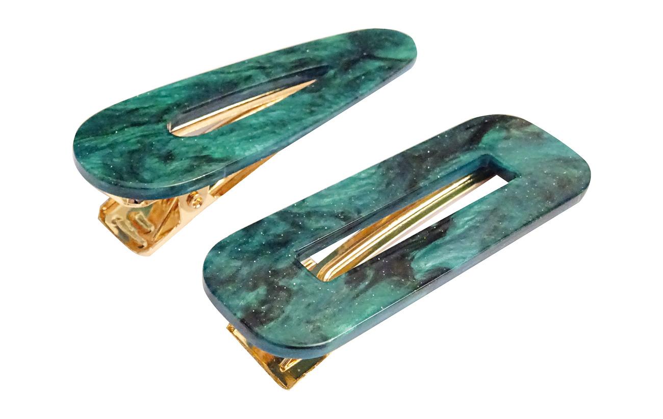 PIPOL'S BAZAAR Marble Hair Clip PIPOL Set Green - GREEN