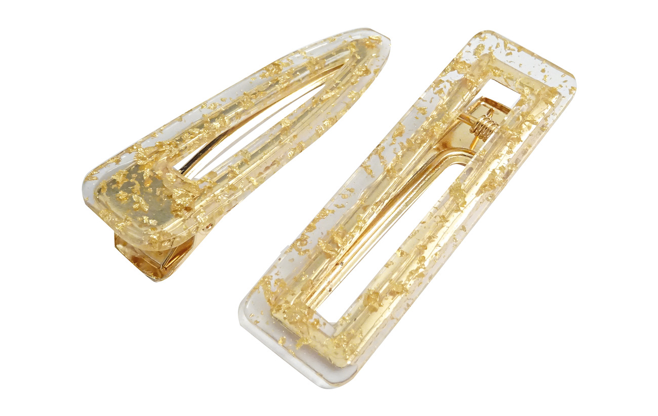 PIPOL'S BAZAAR Flake Hair Clip PIPOL Set Gold - GOLD