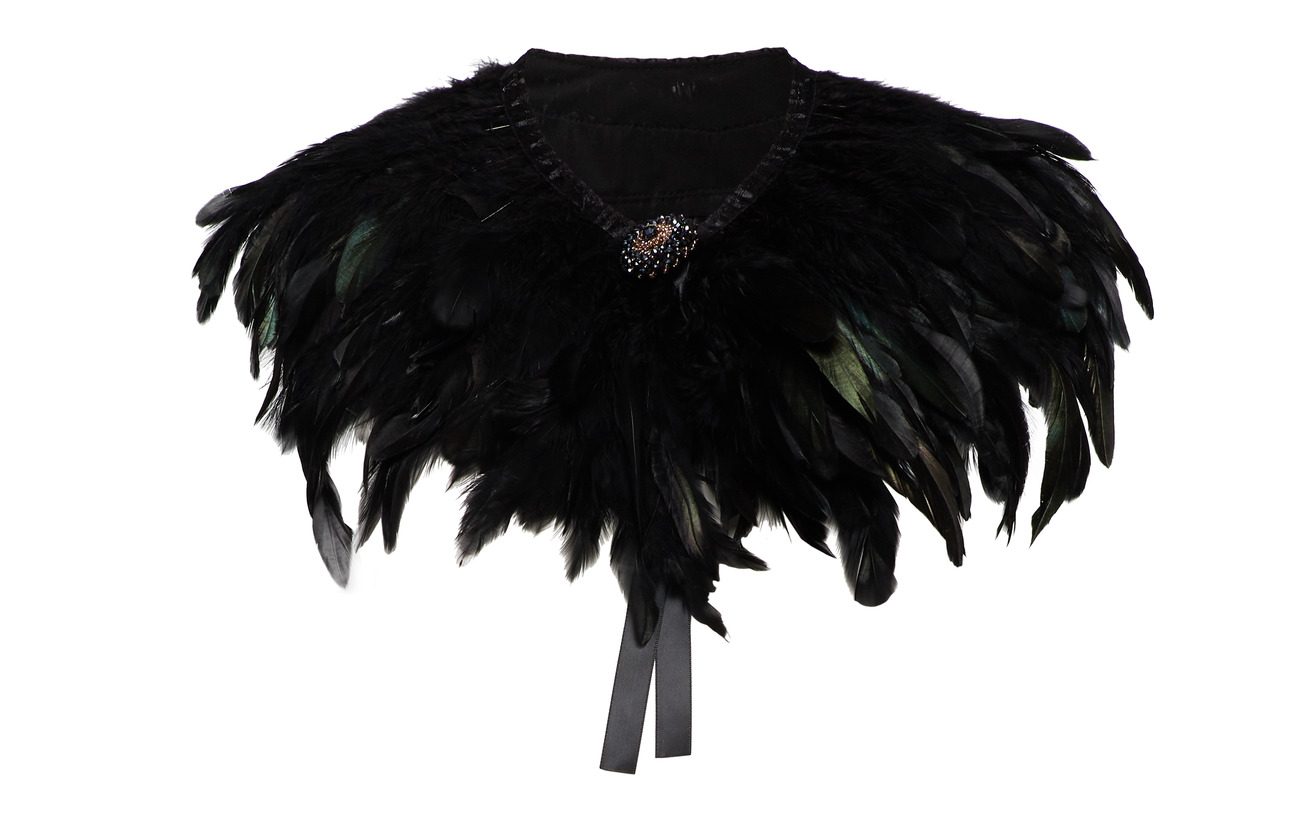 PIPOL'S BAZAAR Majestic Feather Pipols Collar - BLACK
