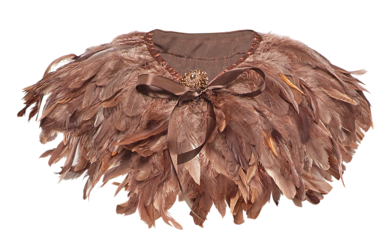 PIPOL'S BAZAAR Majestic Feather Pipol´s Collar - BROWN