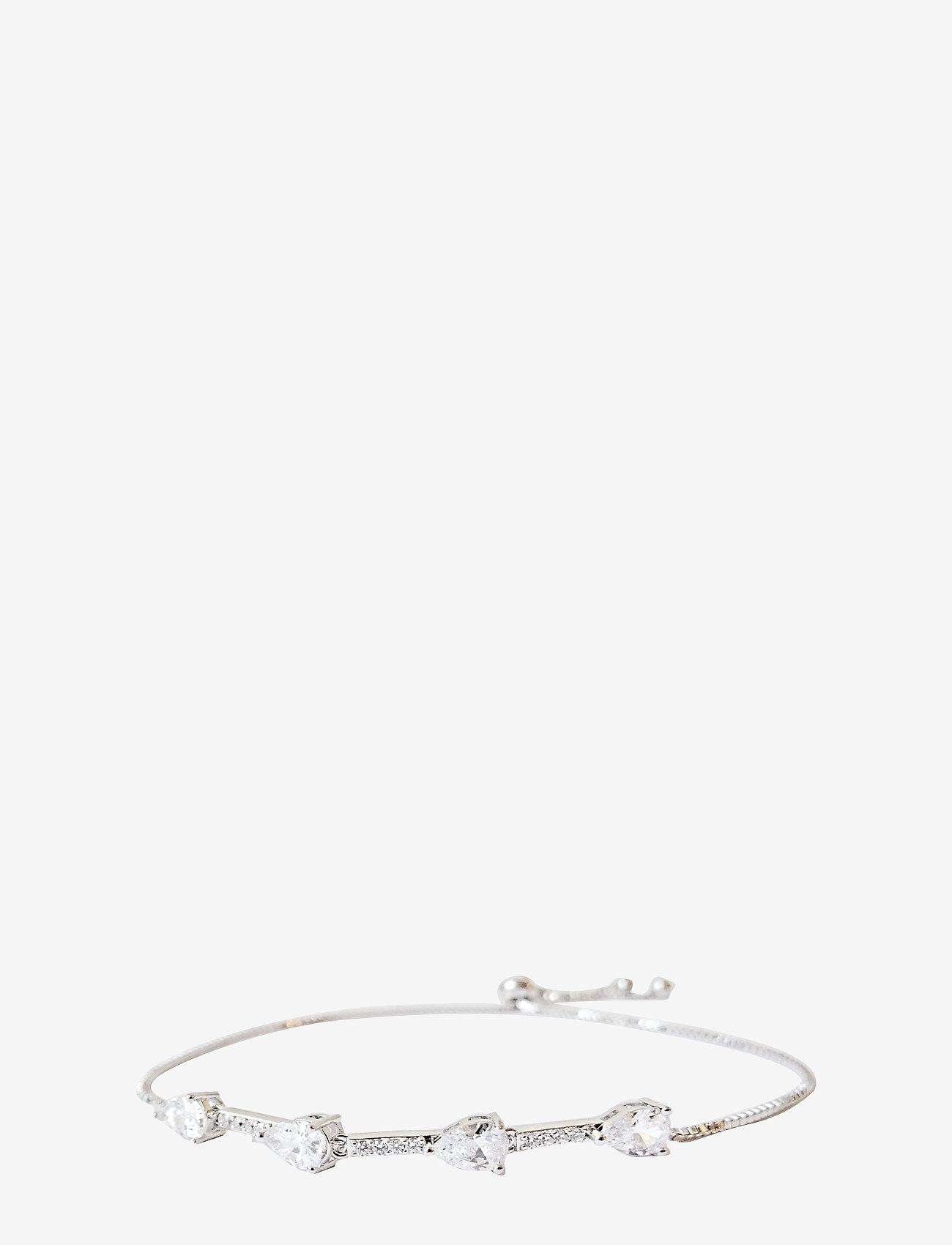 PIPOL'S BAZAAR - Kylie String PIPOL Bracelet Silvery Clear - dainty - silver