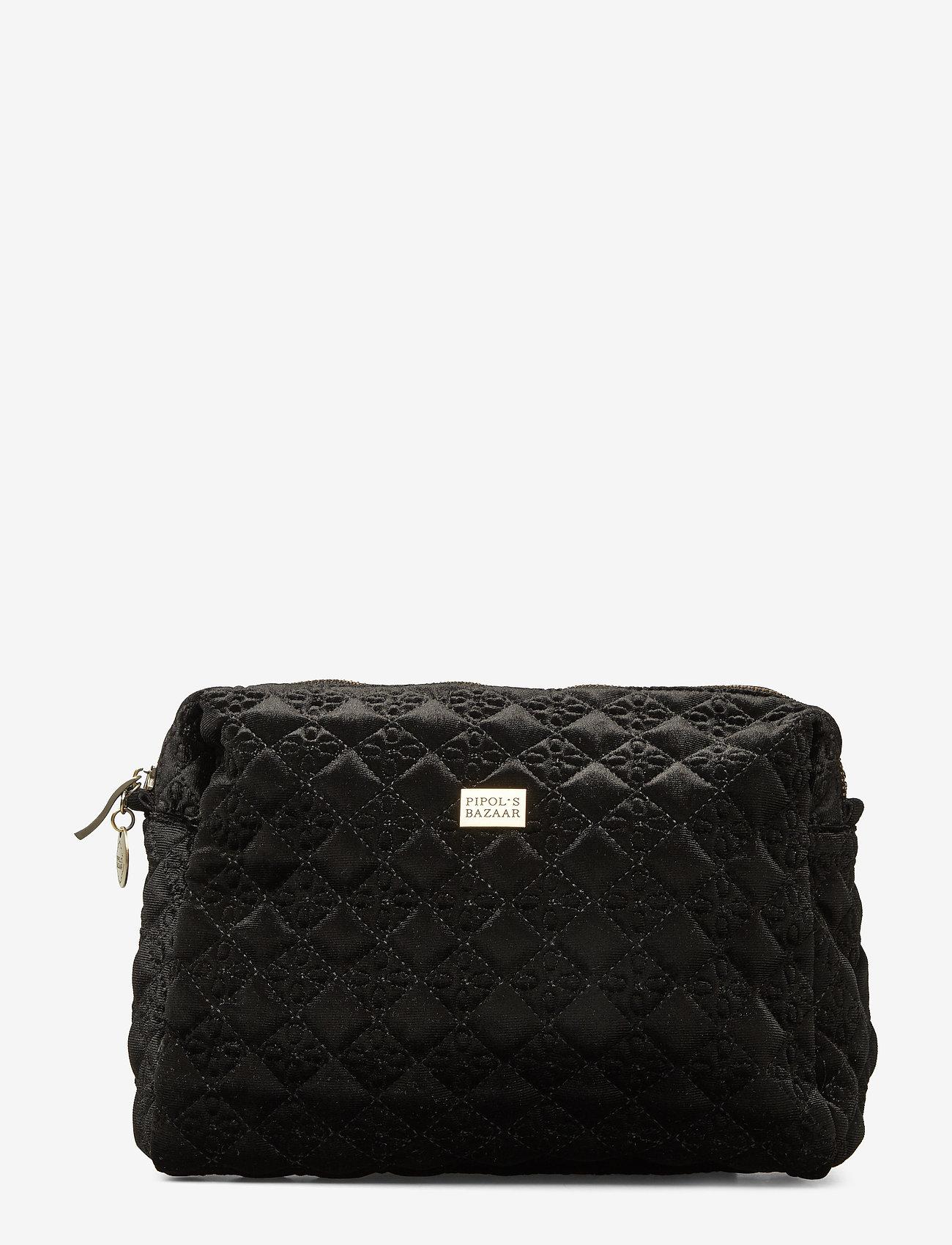 PIPOL'S BAZAAR - Velvet Logo Cosmetic Pipol´s Medium - torby kosmetyczne - black - 0