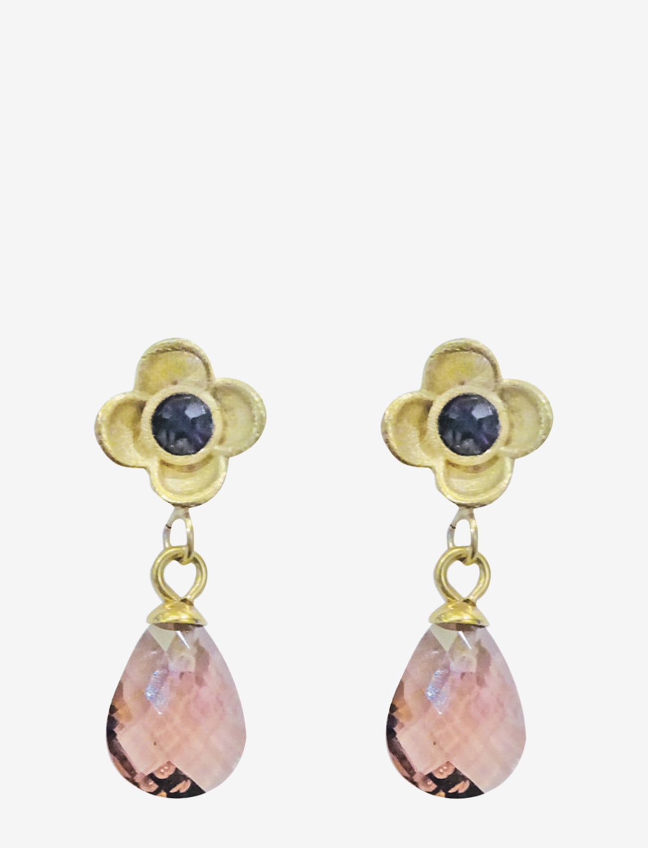 PIPOL'S BAZAAR - Suri Drop PIPOL Ear Gold Amethyst - pendant - purple