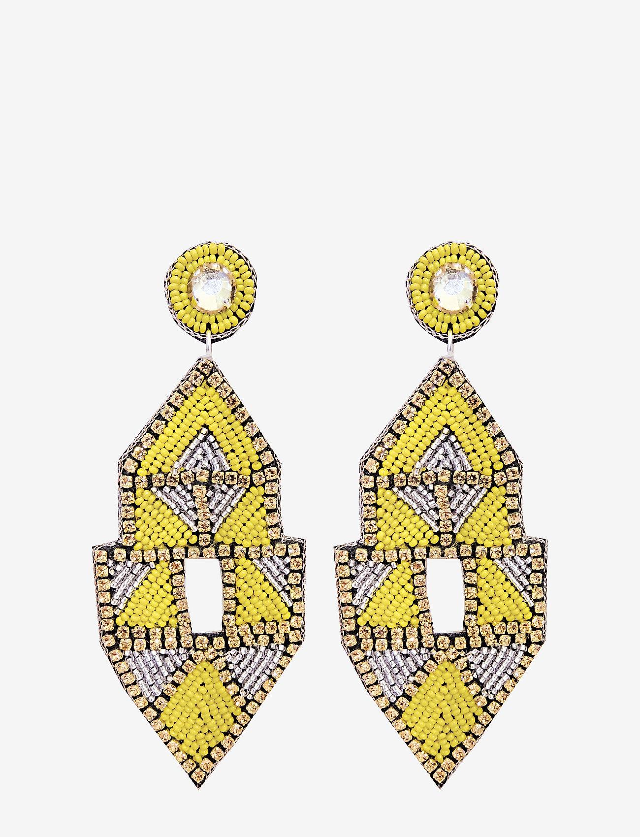 PIPOL'S BAZAAR - Inka Big PIPOL Ear Yellow - pendant - yellow