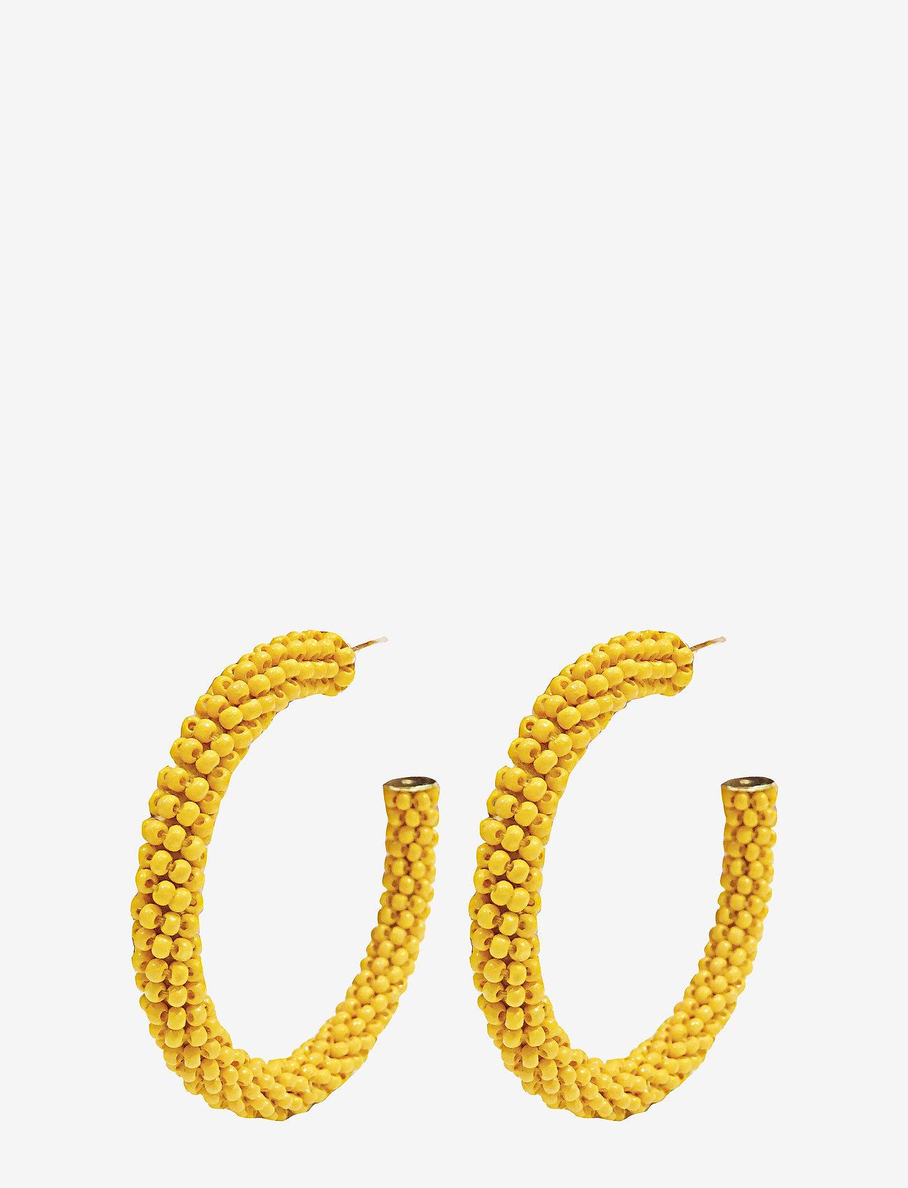 PIPOL'S BAZAAR - Dany Beaded PIPOL Hoop Yellow - hoops - yellow