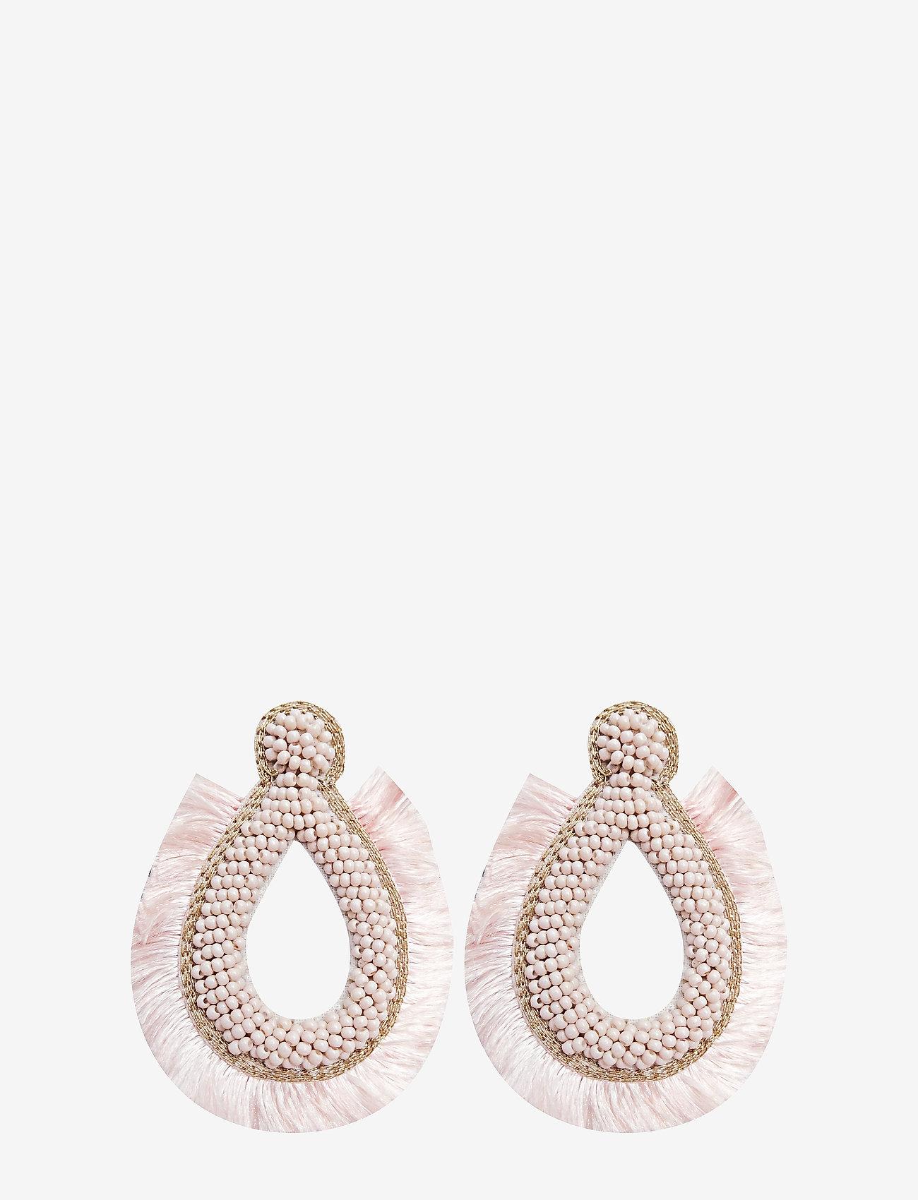 PIPOL'S BAZAAR - Hansel Fringe PIPOL Ear Pink - statement - pink