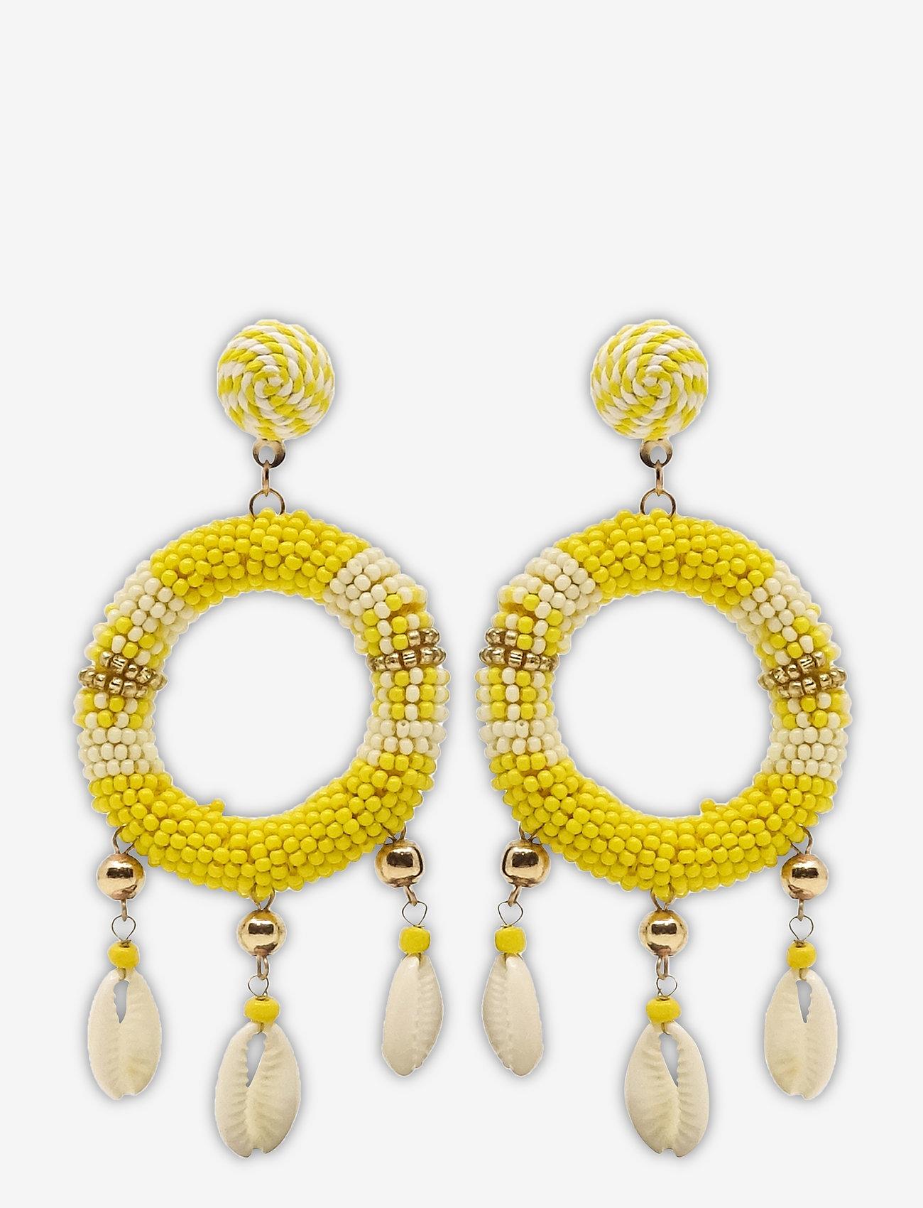 PIPOL'S BAZAAR - Rica Earring Yellow - statement oorbellen - yellow - 0
