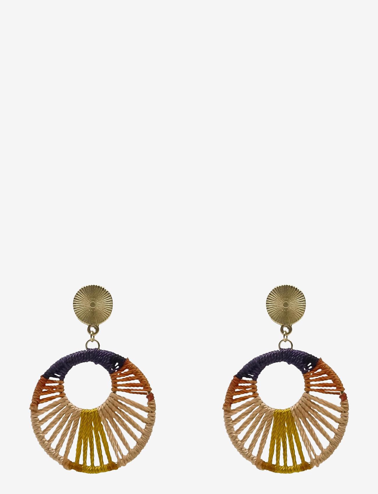 PIPOL'S BAZAAR - Giro Ear Multi Orange - statement earrings - multi - 0