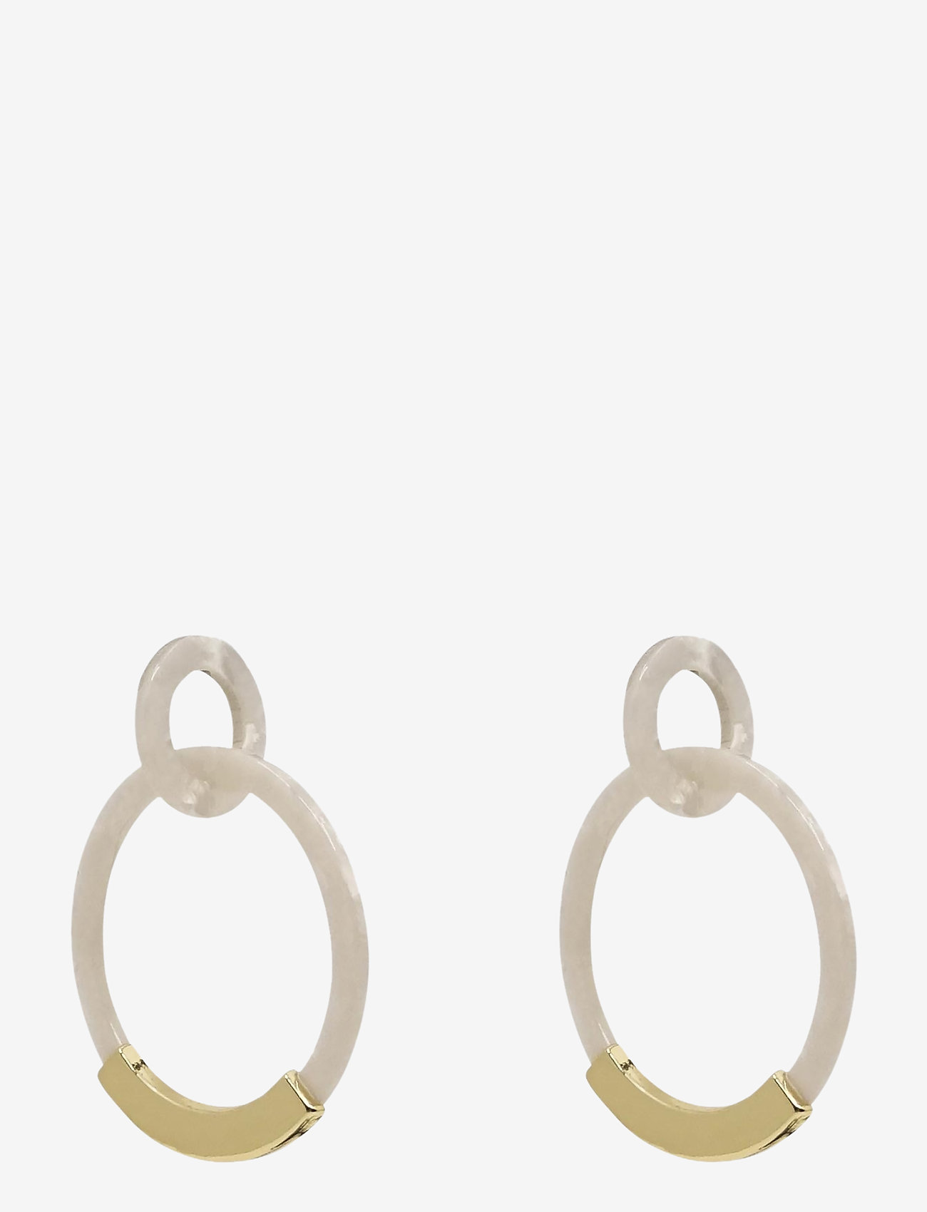 PIPOL'S BAZAAR - Notte Ear Marble White - statement earrings - white - 0