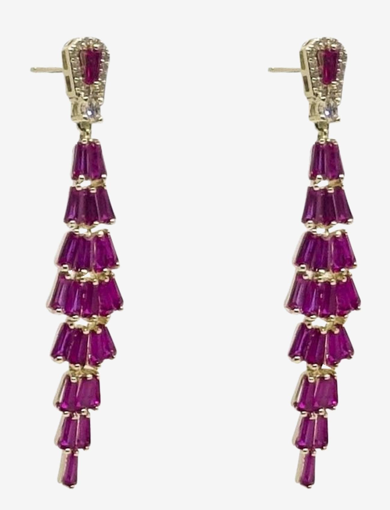 PIPOL'S BAZAAR - Festival Ear Golden Fuschia - statement earrings - pink - 0
