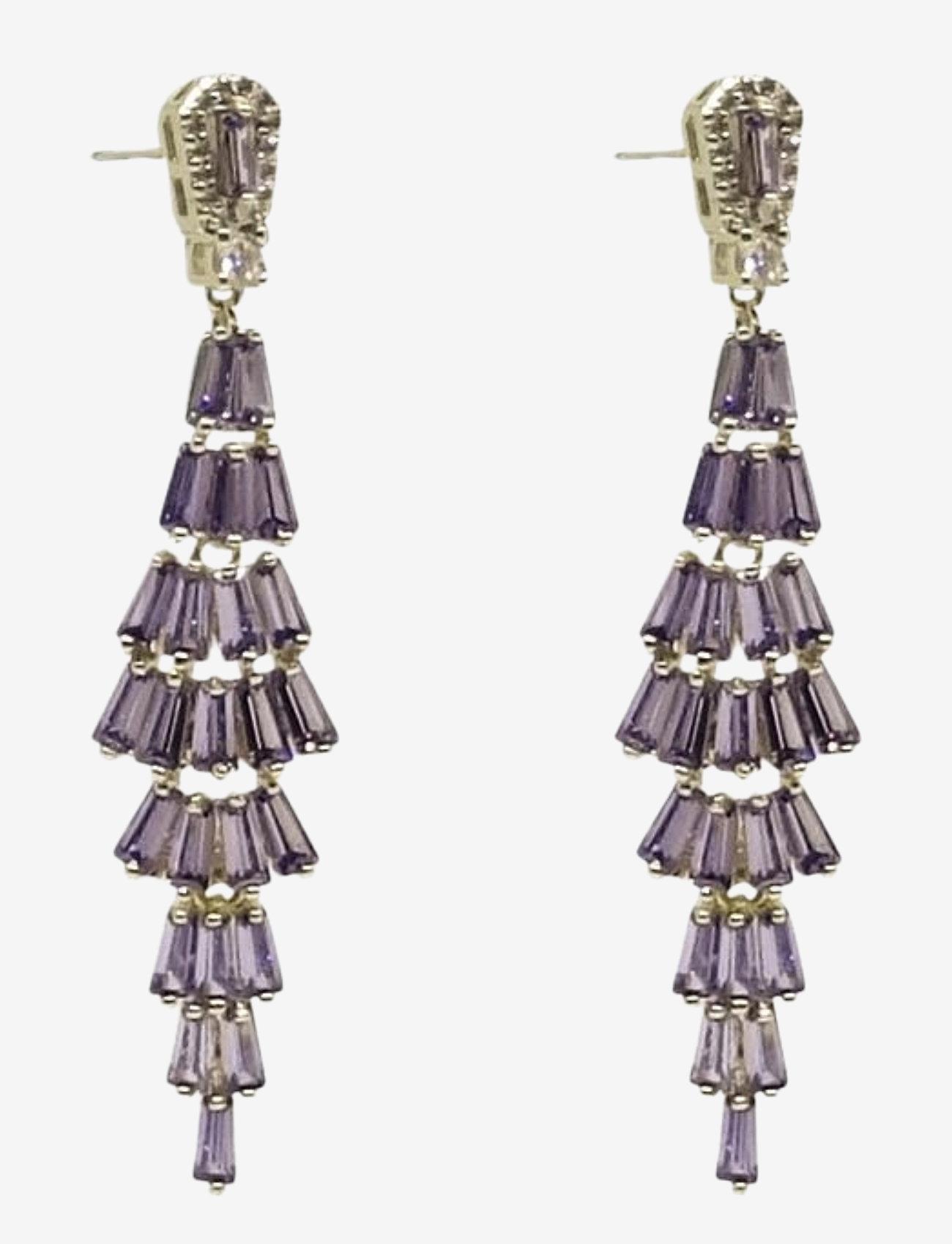 PIPOL'S BAZAAR - Festival Ear Golden Purple - statement earrings - purple - 0
