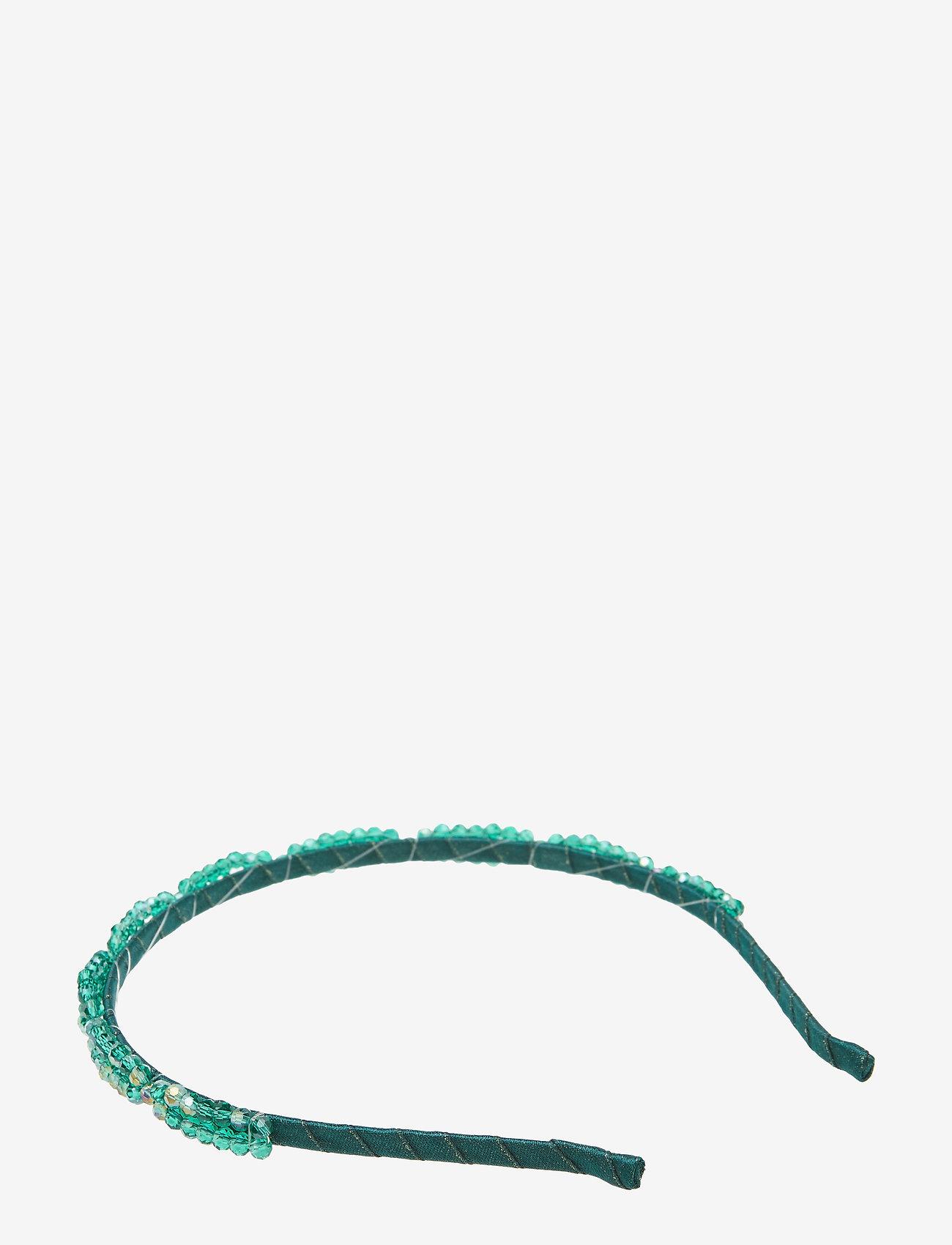 PIPOL'S BAZAAR - Trissa Embroidered PIPOL Diadema Green - hair accessories - green
