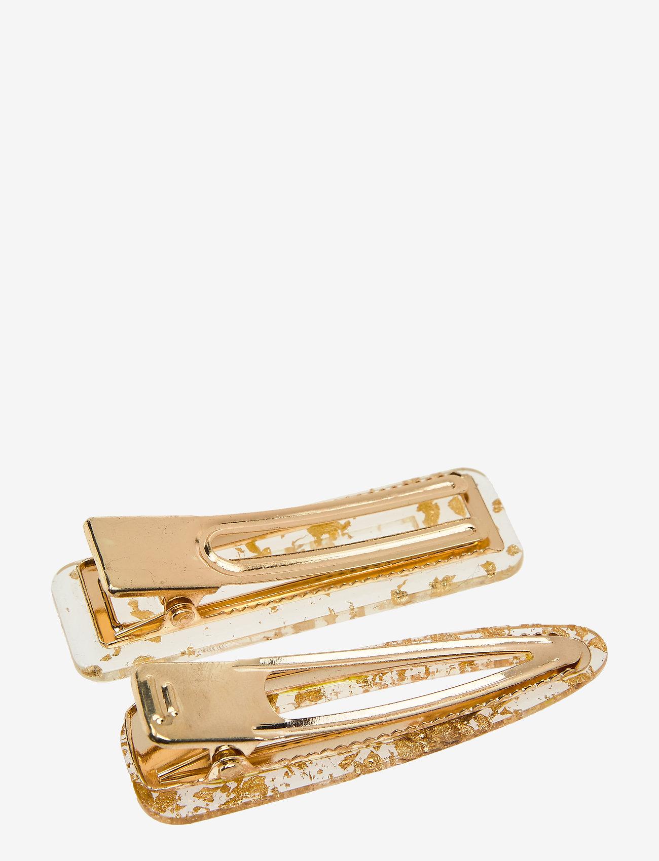 PIPOL'S BAZAAR - Flake Hair Clip PIPOL Set Gold - hair accessories - gold