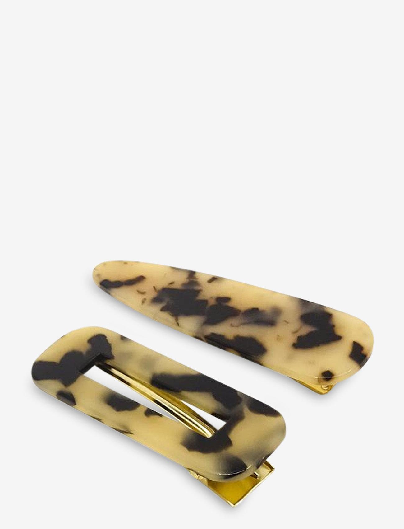 PIPOL'S BAZAAR - Afra Clip Set Brown - haar accessoires - brown - 0