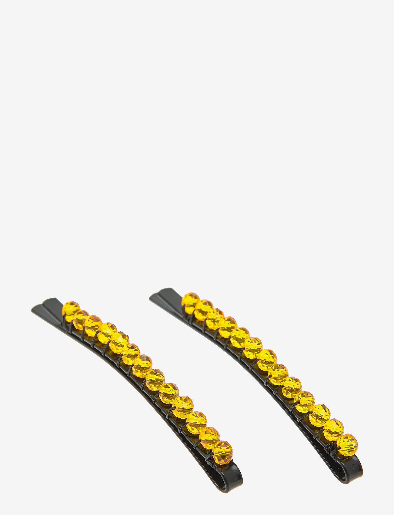 PIPOL'S BAZAAR - Tanya Hair Clip set - haar accessoires - yellow - 0