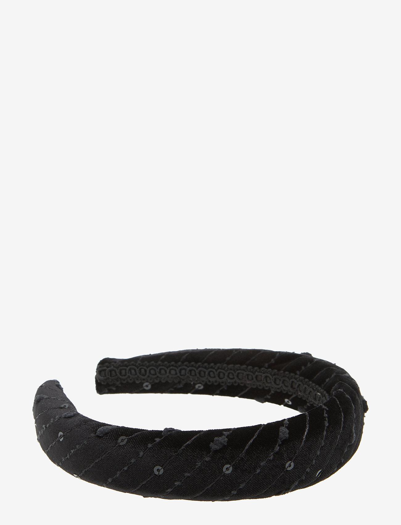 PIPOL'S BAZAAR - Kiara Diadema Velvet Black B - hair accessories - black - 0