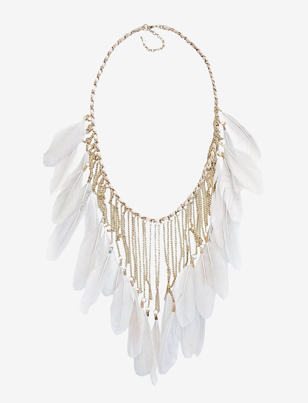 PIPOL'S BAZAAR - Drama Feather PIPOL Necklace Grey - statement necklaces - grey