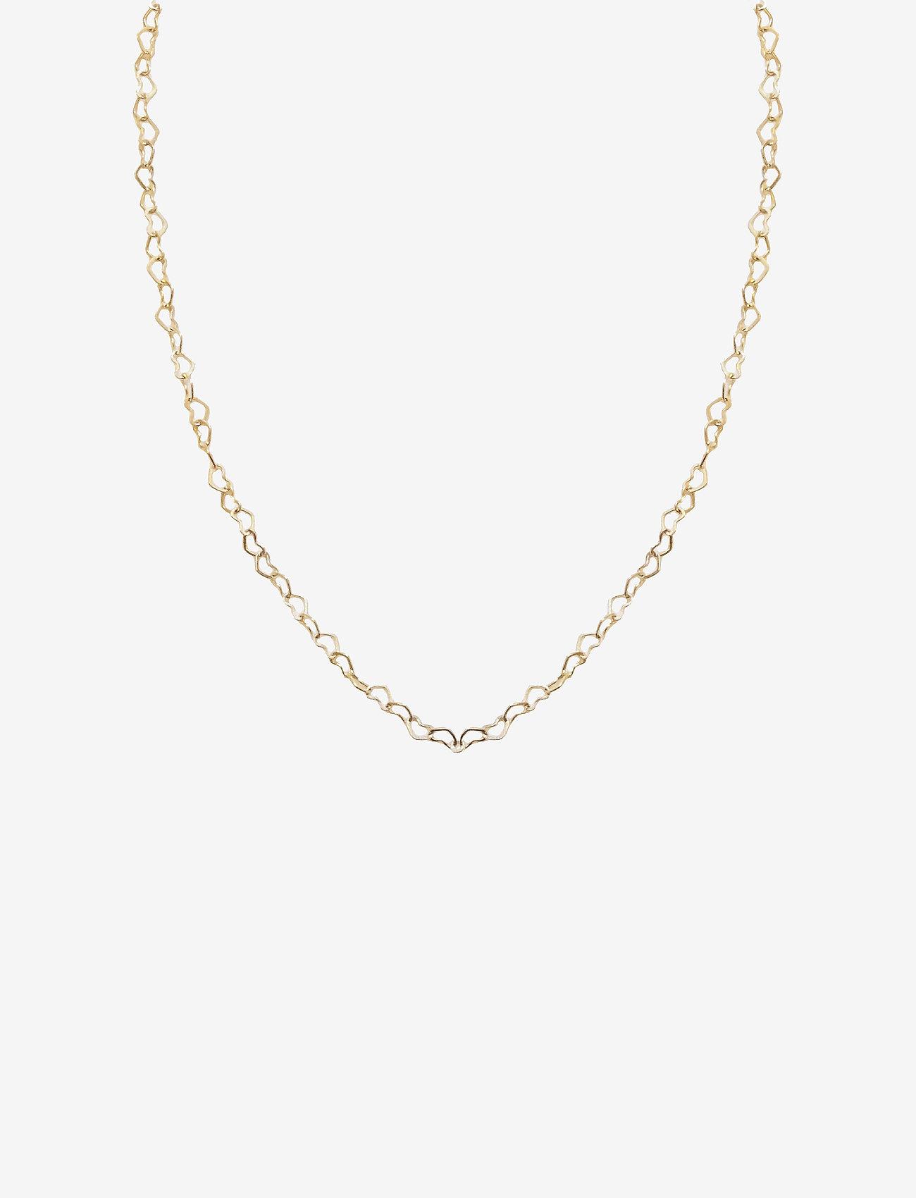 PIPOL'S BAZAAR Heart Chain Necklace Gold - Biżuteria GOLD - Akcesoria