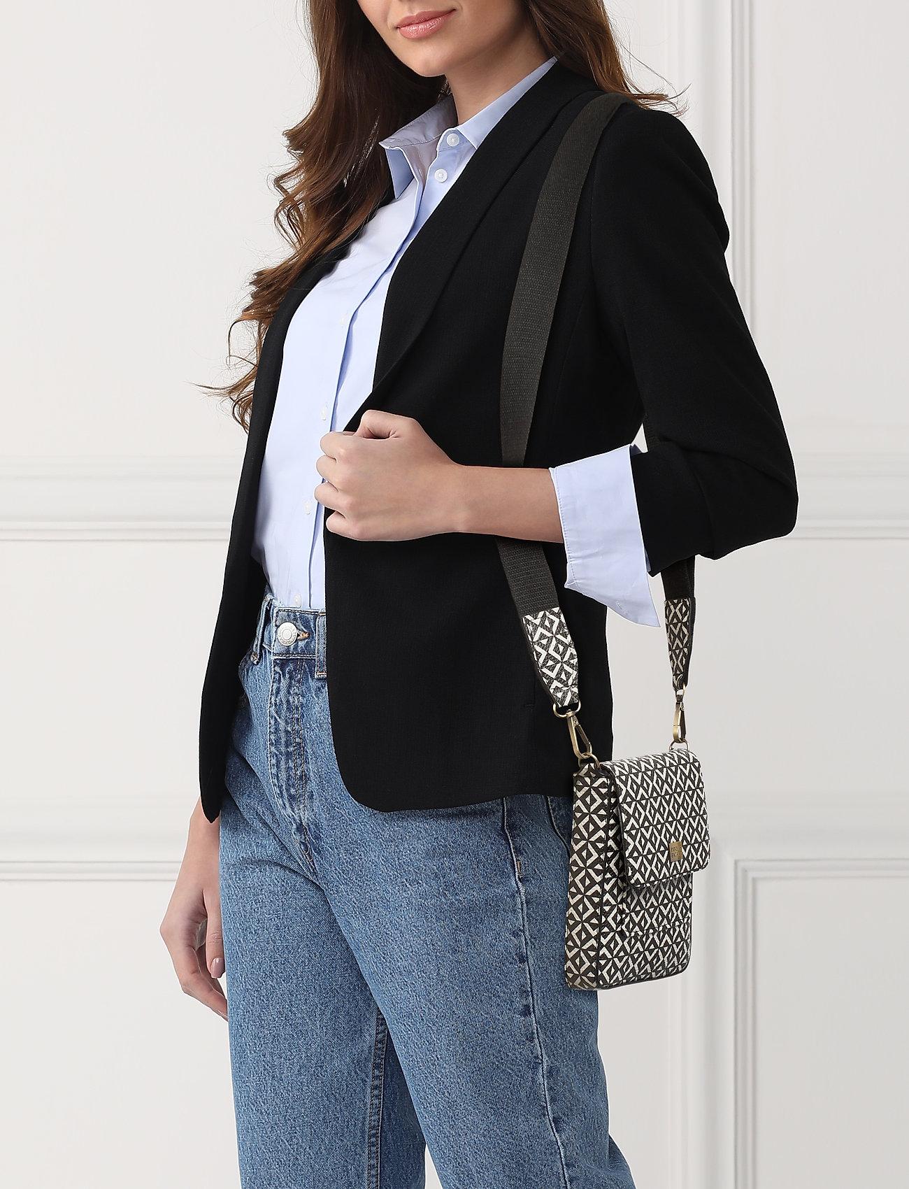 PIPOL'S BAZAAR - Stile Saddle Cross PIPOL Bag Square B&W - shoulder bags - multi