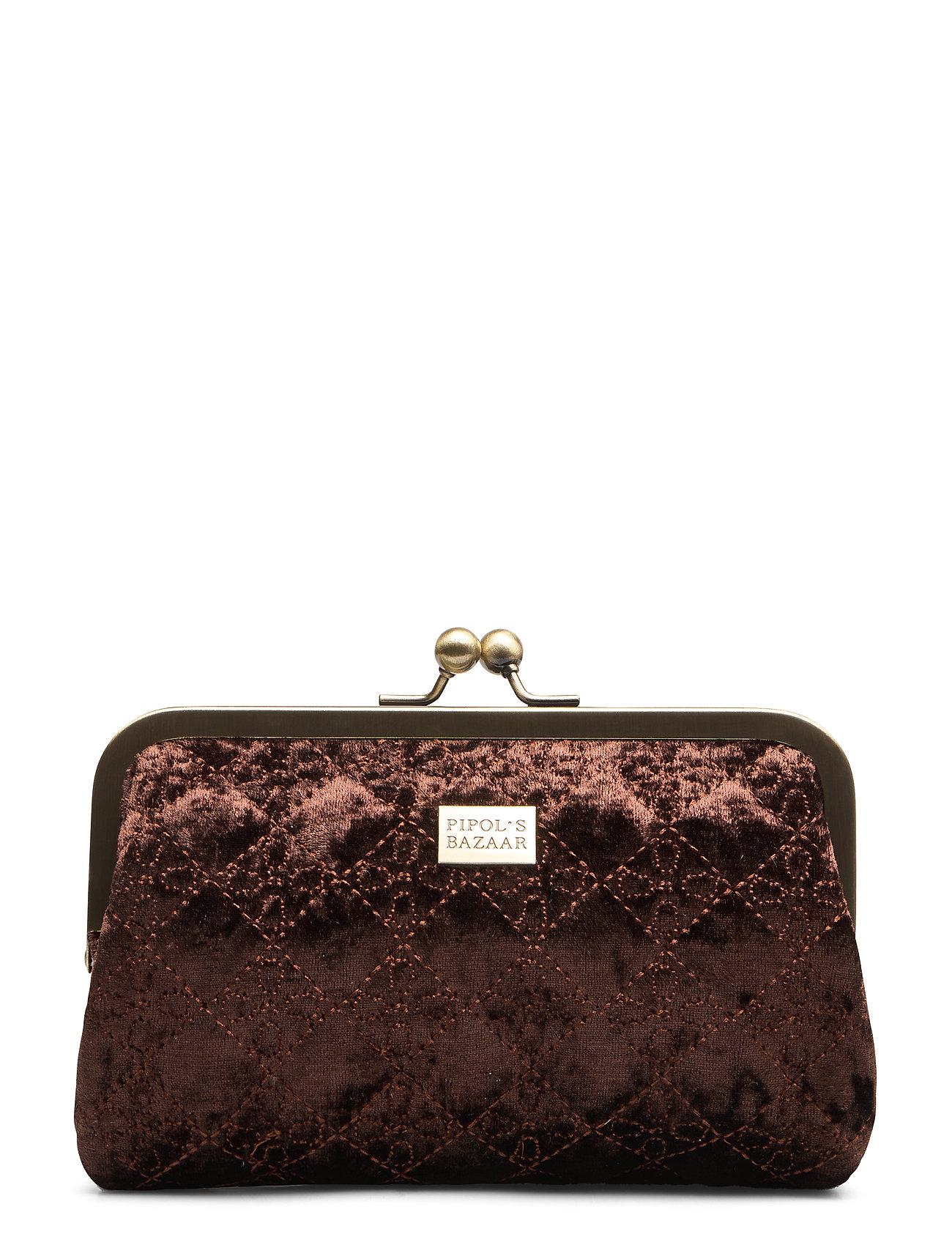 PIPOL'S BAZAAR Velvet Logo PIPOL Cosmetic Frame Chocolate - BROWN