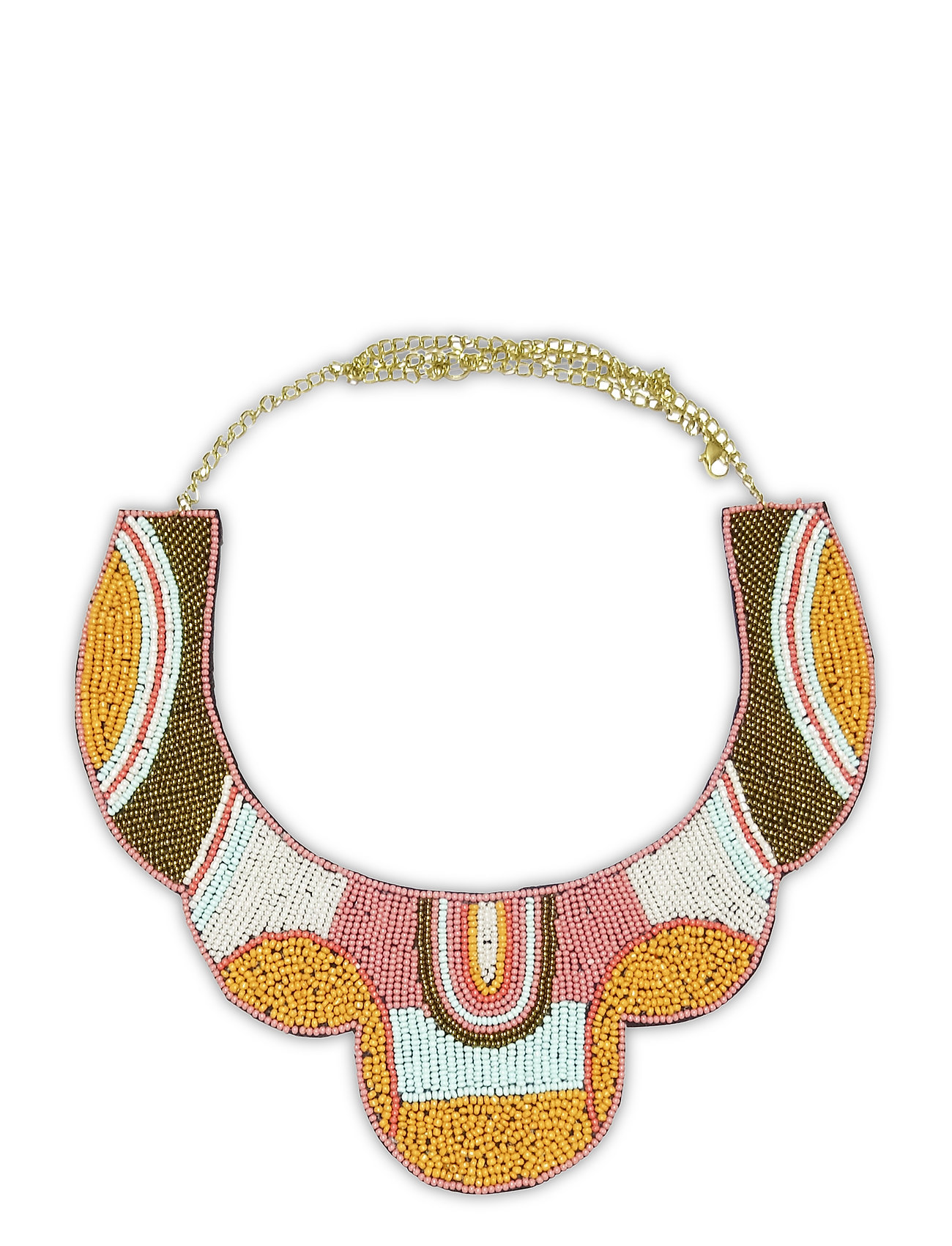 Image of Totem Necklace Multi Orange Accessories Jewellery Necklaces Statement Necklaces Orange PIPOL'S BAZAAR (3454501253)