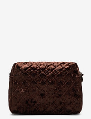 PIPOL'S BAZAAR - Velvet Logo PIPOL Cosmetic Medium Chocolate - cosmetic bags - brown - 1