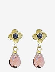 PIPOL'S BAZAAR - Suri Drop PIPOL Ear Gold Amethyst - pendant - purple - 0
