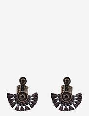 PIPOL'S BAZAAR - Fira Ear Aubergine Grey - statement earrings - grey - 0
